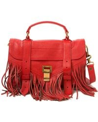 Proenza Schouler PS1 Fringed Leather Tote - Lyst
