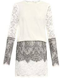 Loyd/Ford Lace And Silk Dress - White