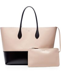 Rochas Two-Tone Leather Tote - Lyst
