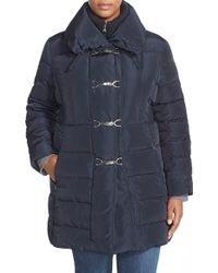 Jessica Simpson - Down & Feather Fill Toggle Front Coat - Lyst