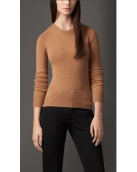 Burberry Crew Neck Cashmere Sweater - Lyst