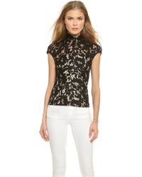 Lover Warrior Lace Top - Black - Lyst