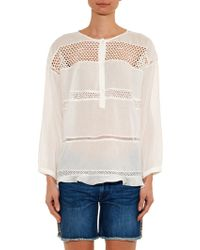 Etoile Isabel Marant Chay Crochet-Panel Top - Lyst