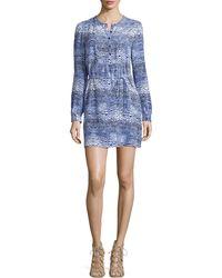 Trina Turk Long-Sleeve Dress With Drawstring Waist - Lyst