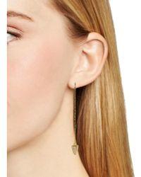 Samantha Wills Lion's Drop Threader Earrings - Metallic