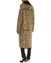 Fuzzi Leopard-print Sweater Topper Coat - Multicolour