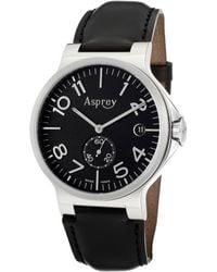 Asprey - No8 Mens Black Dial Automatic Chronometer Watch with Date Asprey Watch - Lyst