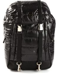 Moncler Black Padded Backpack - Lyst