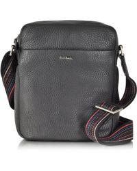 Paul Smith Black Leather Small Crossbody Bag - Gray
