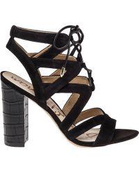 Sam Edelman | Yardley Lace-Up Suede Sandals | Lyst