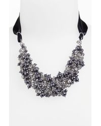 Nina 'Melaney' Ribbon & Cluster Bib Necklace - Lyst