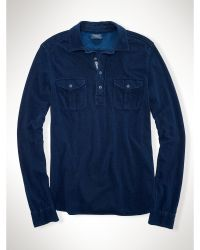 Polo Ralph Lauren Indigo-Dyed Mesh Workshirt - Lyst