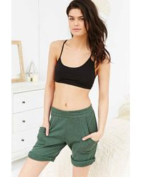 Silence + Noise - Payton Black Cropped Bra Top - Lyst