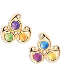 Tamara Comolli - Paisley Three-stone Stud Earrings - Lyst