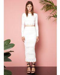 Torn By Ronny Kobo Nanette Skirt - Lyst