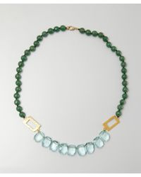 Wendy Mink - Green And Turquoise Stone Cutout Necklace - Lyst