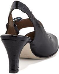 Anyi Lu Tulip Patent Peep-Toe Slingback Sandal - Lyst