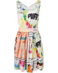 Moschino Cheap & Chic Cartoon-Print Flare Dress - Lyst