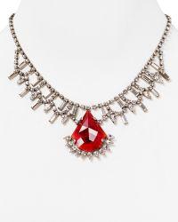 Dannijo Crystal Drop Necklace 16 - Lyst