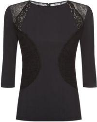 Nina Ricci Panelled Jersey Top - Lyst