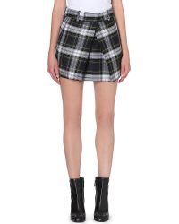 McQ by Alexander McQueen Mcq Pleated Checked Mini Skirt Alexander Mcqueen Rupert - Lyst