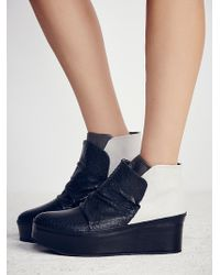 Free People Townsend Platform Ankle Boot - Black