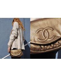 Chanel | Half Moon Shoulder Bag, Bronze Caviar | Lyst