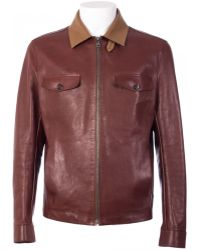 Ferragamo Bordeaux Lambskin Jacket purple - Lyst