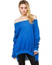 Akira Black Label - Cut It Out Pocket Sweater - Blue - Lyst