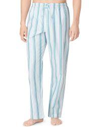 Calvin Klein Mens Striped Pajama Pants - Lyst