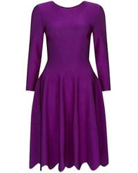 Issa Phoebe Long-sleeve Fit and Flare Dress - Lyst