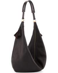 The Row Sling 15 Horsehair Tassel Hobo Bag Black