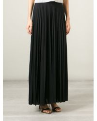 Theory Pleated Maxi Skirt - Lyst