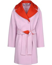 Jil Sander Navy Pink Coat - Lyst
