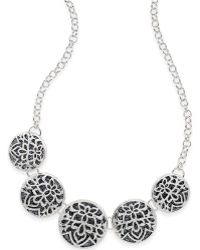 Style & Co. - Glitter Openwork Round Frontal Necklace - Lyst