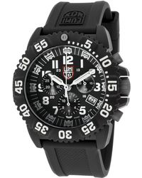 Luminox Men'S Colormark Chrono Black Silicone Black Dial - Lyst