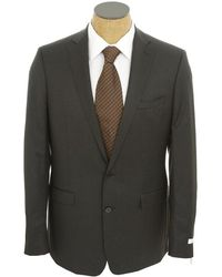 Calvin Klein Men'S Solid Extreme Slim Fit Wool Suit gray - Lyst