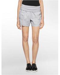 Calvin Klein White Label Performance Foldover Waist Shorts - Lyst
