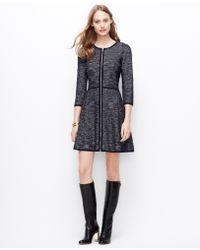 Ann Taylor Tall Herringbone Sweater Dress - Lyst