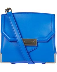 Alexander Wang Blue Marion Leather Bag - Lyst