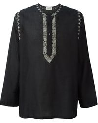 Saint Laurent Embroidered Tunic - Lyst