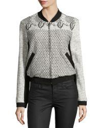 Nanette Lepore Fiesta Mixed-Print Cotton Jacket - Lyst