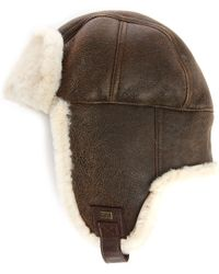 Ugg | Light Brown Suede Sheepskin Lockwood Shearling Trapper Hat | Lyst