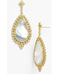 Freida Rothman Mother-of-Pearl Teardrop Earrings 6NaMOs