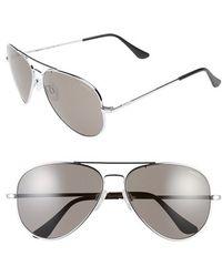Randolph Engineering - 'concorde' 61mm Aviator Sunglasses - Bright Chrome/ Grey - Lyst
