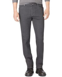 Calvin Klein Grey Slim-Straight Fit Jeans - Lyst