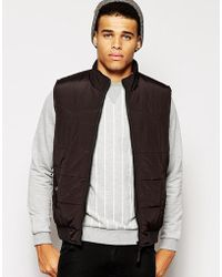 Asos Quilted Gilet - Lyst