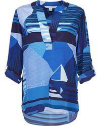 Diane von Furstenberg Three-Quarter Sleeve Silk Top - Lyst