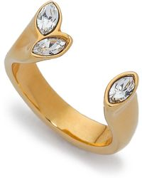 Vita Fede 3 Marquis Ring - Gold/clear - Metallic