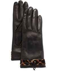 Portolano Leather Calf Hair Glove - Lyst